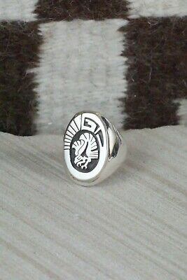 Navajo Sterling Silver Ring - Calvin Peterson - Size 10.75