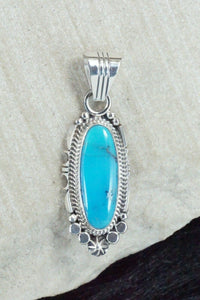 Turquoise & Sterling Silver Pendant - Daniel Benally