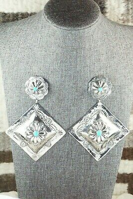 Turquoise & Sterling Silver Earrings - Rita Lee