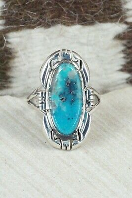 Turquoise and Sterling Silver Ring - Ray Jack - Size 10