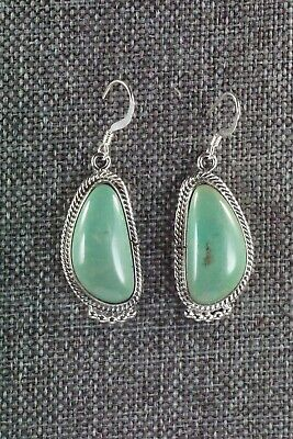 Navajo Turquoise & Sterling Silver Earrings - Lee Shorty