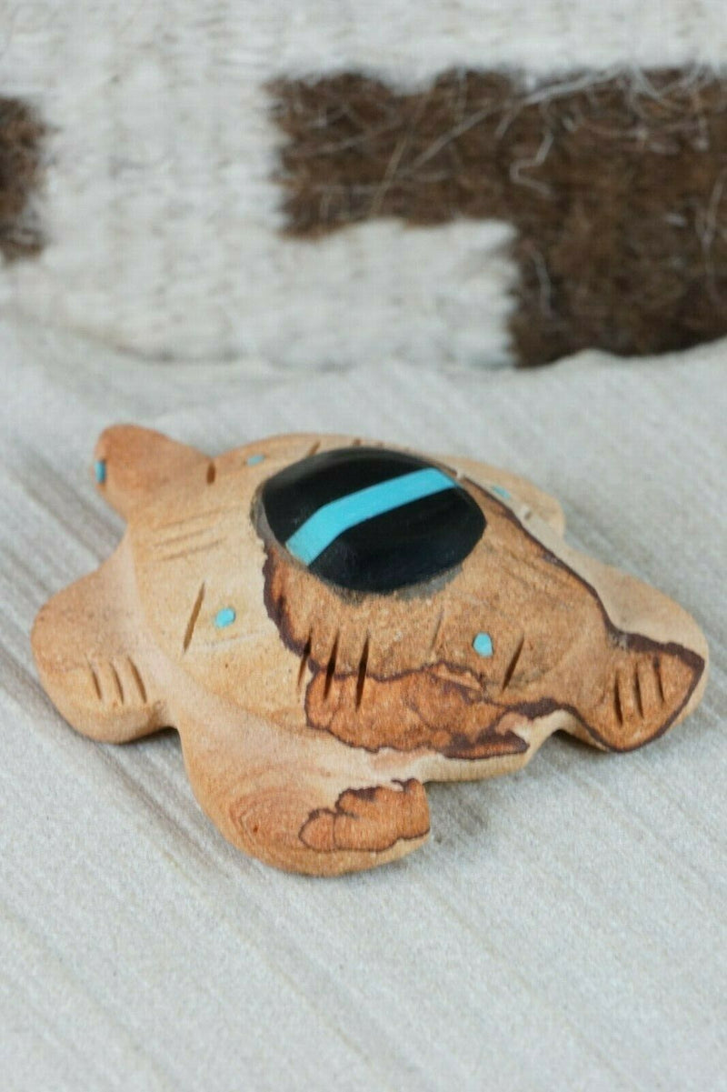 Turtle Zuni Fetish Carving - Brandon Phillips - High Lonesome Trading