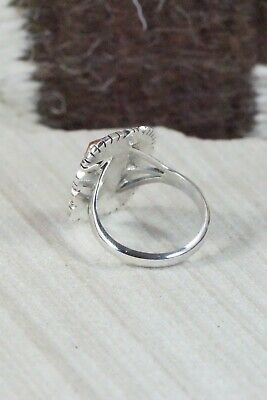 Spiny Oyster and Sterling Silver Ring - Andrew Vandever - Size 8.75