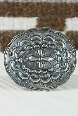 Navajo Sterling Silver Belt Buckle - Wallace Yazzie Jr - High Lonesome Trading