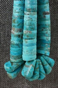 Santo Domingo Turquoise Necklace - Lupe Lovato - High Lonesome Trading