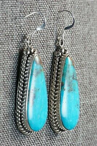 Turquoise and Sterling Silver Earrings - Brandon Belin
