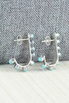 Turquoise & Sterling Silver Earrings - Rena Laate - High Lonesome Trading