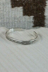 Navajo Sterling Silver Bracelet - Bruce Morgan - High Lonesome Trading