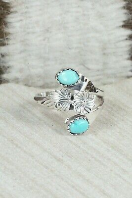 Turquoise & Sterling Silver Ring - Roger Pino - Size 8