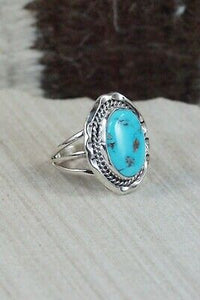 Turquoise & Sterling Silver Ring - Samuel Yellowhair - 7.5
