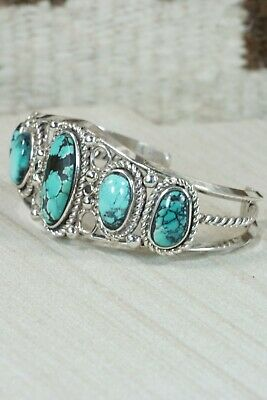 Zuni Turquoise & Sterling Silver Bracelet - Native American