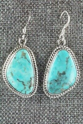 Turquoise & Sterling Silver Earrings - Lee Shorty
