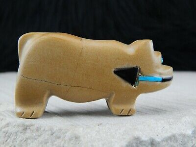 Bear Zuni Fetish Carving- Taylor Gia - High Lonesome Trading