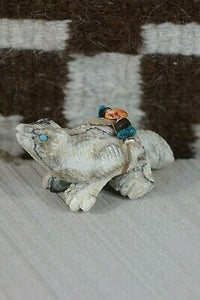 Badger Zuni Fetish Carving - Narren Bowannie - High Lonesome Trading