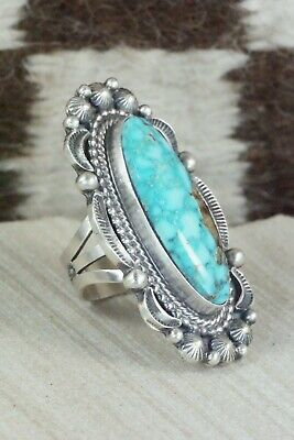 Turquoise & Sterling Silver Ring - Tom Lewis - Size 7.5