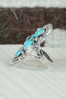4 Stone Turquoise and Sterling Silver Ring - Harold Becenti - Size 7.5 - High Lonesome Trading