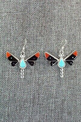 Multi Stone & Sterling Silver Earrings - Leavus Ahiyite