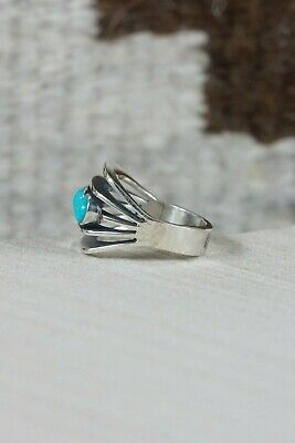 Navajo Turquoise and Sterling Silver Ring - James Bahe - Size 6.75 - High Lonesome Trading