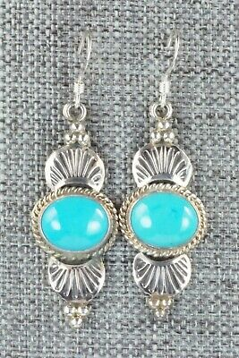 Turquoise & Sterling Silver Earrings - Michael Calladitto