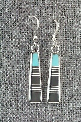 Onyx, Turquoise & Sterling Silver Earrings - Valentino Laate