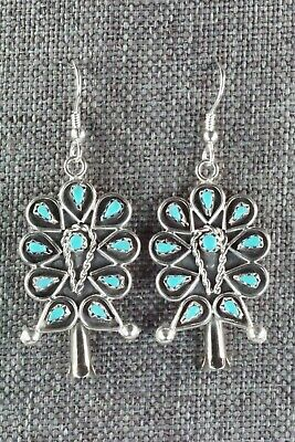 Turquoise & Sterling Silver Earrings - Tricia Leekity