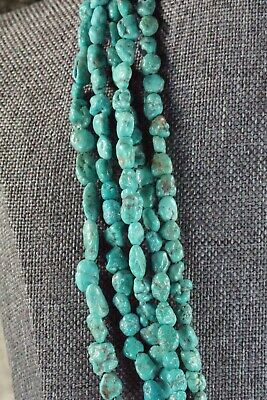 Navajo 5 Strand Turquoise Necklace - Native American