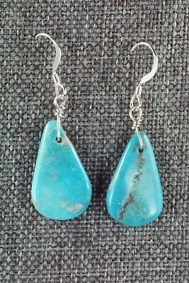 Turquoise & Sterling Silver Earrings - Navajo