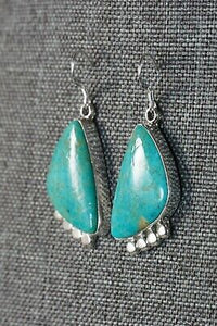 Turquoise & Sterling Silver Earrings - Sharon McCarthy - Navajo - High Lonesome Trading