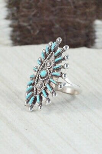 Turquoise and Sterling Silver Ring - Philander Gia - Size 10