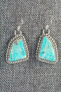 Turquoise & Sterling Silver Earrings - Alvin Joe