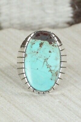 Turquoise and Sterling Silver Ring - Ray Jack - Size 10.25