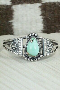 Turquoise and Sterling Silver Bracelet - Leon Martinez