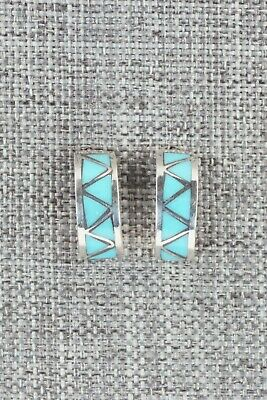 Turquoise & Sterling Silver Earrings - Tina Gasper