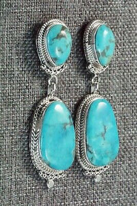 Turquoise & Sterling Silver Earrings - Verley Betone