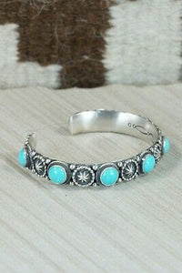 Turquoise & Sterling Silver Bracelet - Bobby Platero