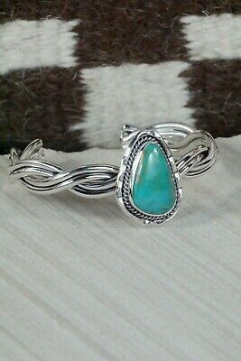 Navajo Turquoise and Sterling Silver Bracelet - Samuel Yellowhair