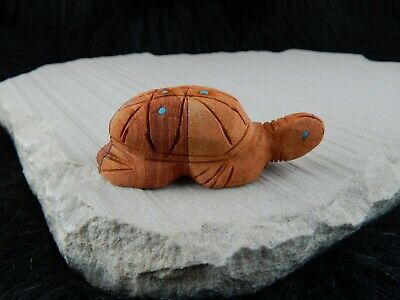 Turtle Zuni Fetish Carving - Louise Ponchuella - High Lonesome Trading