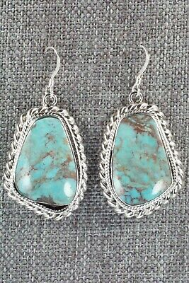 Turquoise & Sterling Silver Earrings - Sharon McCarthy