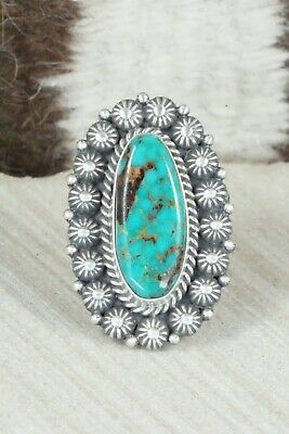 Royston Turquoise and Sterling Silver Ring - Michael Calladitto - Size 7
