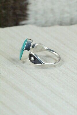 Turquoise & Sterling Silver Ring - Mark Barney - Size 6.25