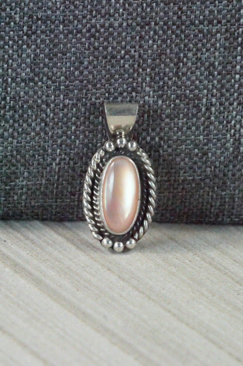 Pink Quartz & Sterling Silver Pendant - Jan Mariano