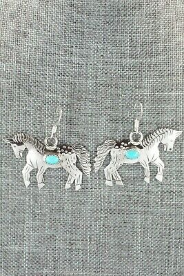 Turquoise & Sterling Silver Earrings - Louise Yazzie