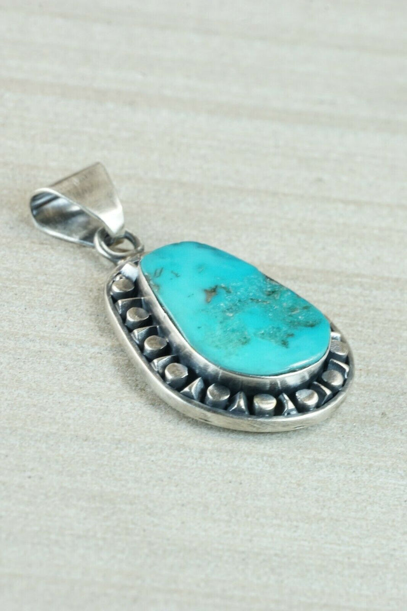 Navajo Turquoise and Sterling Silver Pendant - Sharon McCarthy
