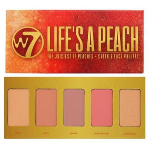 W7 Life's A Peach - The Juiciest of Peaches - Cheek & Face Palette