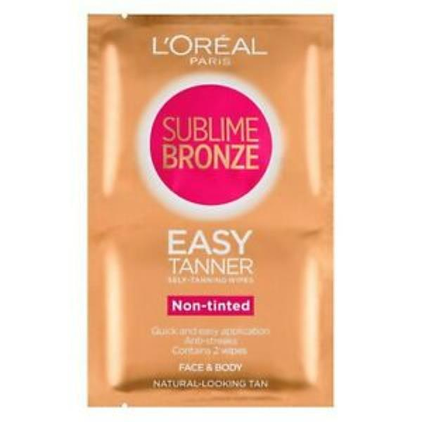 L'Oreal Sublime Bronze Self-Tanning Wipes Non-tinted Twin Pack