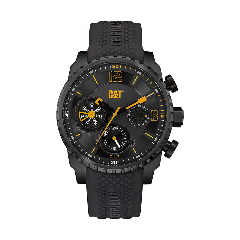 RELOJ CATERPILLAR AC16921127  MOSSVILLE - BLACK   YELLOW DIAL / 45MM / BLACK SILICONE STRAP