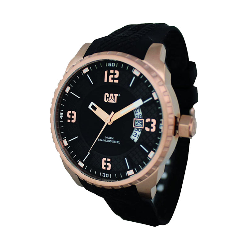 RELOJ CATERPILLAR AC19121129  MOSSVILLE - BLACK   ROSE GOLD DIAL / 45MM / BLACK SILICONE STRAP