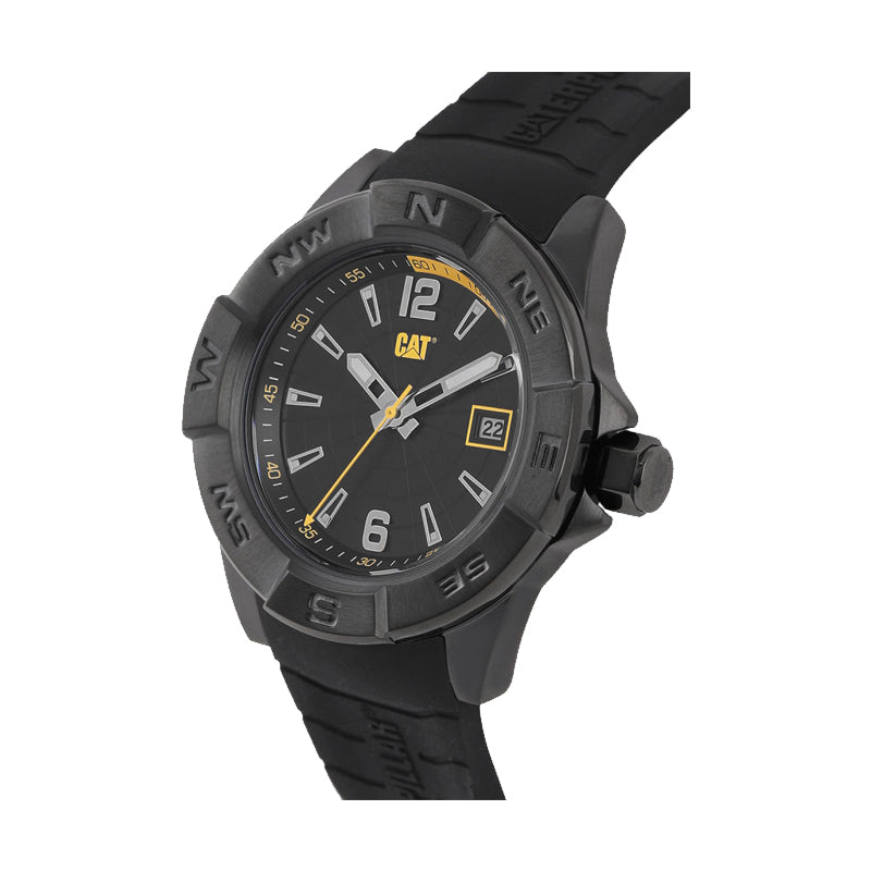 RELOJ CATERPILLAR AF16121137  NORTH - BLACK   YELLOW DIAL / 44 MM / BLACK SILICONE STRAP