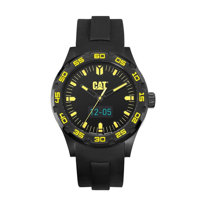 RELOJ CATERPILLAR B116521127  C- SMART - BLACK   YELLOW DIAL / 44MM / BLACK SILICONE STRAP
