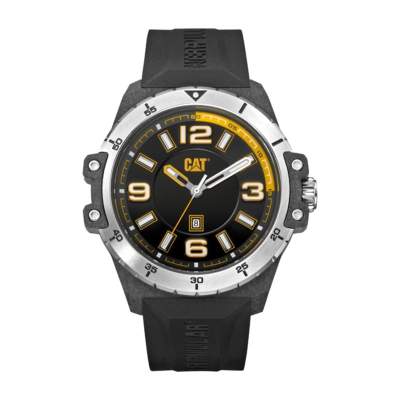 RELOJ CATERPILLAR K011121137  NOMAD - BLACK/ CARBON CASE DIAL / 46.5MM / BLACK SILICONE STRAP